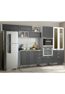 Cozinha Completa 8 Peã§As Americana Multimã³Veis 5661Mf Branco/Grafite - Branco/Incolor - Dafiti