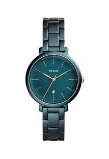 Relógio Fossil Feminino Jacqueline Verde Es4409/1Vn Es4409/1Vn