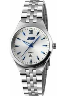 Relógio Skmei Analógico 9071 - Feminino-Branco