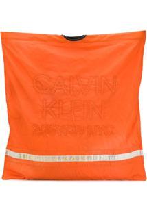 Calvin Klein 205W39Nyc Bolsa Tote Com Logo Bordado - Laranja