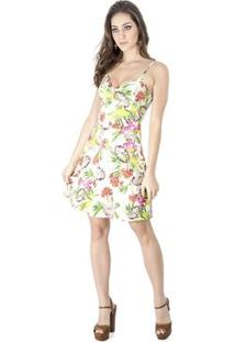Vestido Evasê Floral Alphorria A.Cult - Feminino-Verde