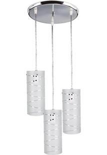 Luminária Pendente First Lumm, 3 Lâmpadas, Branco - 36117