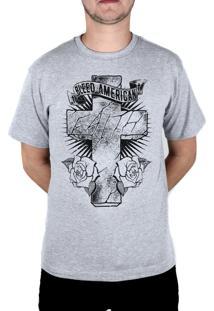 Camiseta Bleed American Faith Cinza Mescla