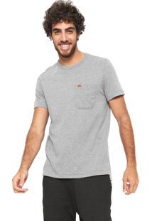 Camiseta Hering Com Bolso Cinza