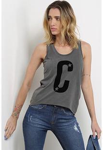 Blusa Calvin Klein American Feminina - Feminino-Preto
