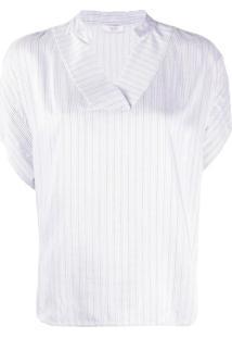 Peserico Blusa Mangas Curtas - Branco