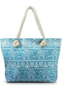 Bolsa Jacki Design De Praia - Unissex-Azul Piscina