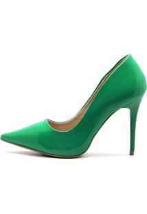 Scarpin Royalz Verniz Salto Fino Penã©Lope Verde - Verde - Feminino - Verniz - Dafiti