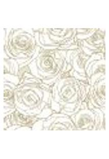 Papel De Parede Adesivo - Rosas Brancas - 022Ppf