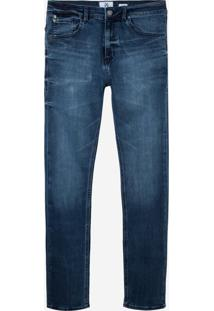 Calça John John Slim Messina 3D Jeans Azul Masculina (Jeans Escuro, 42)