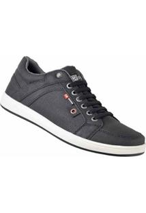 Sapatênis D&R Shoes Em Couro Masculino - Masculino-Preto