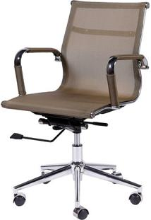 Cadeira Office Eames Em Tela- Cobre & Prateada- 112,Or Design