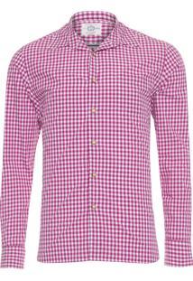 Camisa Masculina Informal Fantasia - Roxo