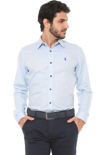 Camisa Sergio K Reta Point Vivo Azul