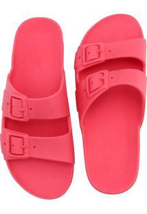 Sandália Birken Rasteira De Borracha Ravy Store Conforto Pink - Kanui
