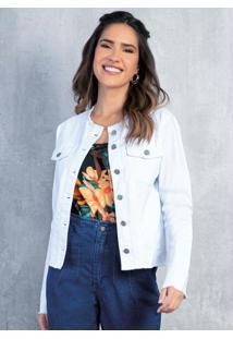Jaqueta Branca Com Barra Desfiada