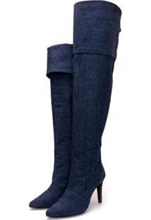 Bota Over Mr Shoes Cano Alto Salto Fino Jeans