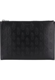 Saint Laurent Clutch Com Padronagem - Preto