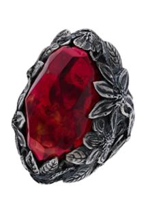Lyly Erlandsson Red Winter Silver Ring - Metálico