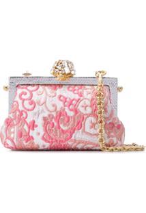 Dolce & Gabbana Clutch Com Aplicação - Rosa