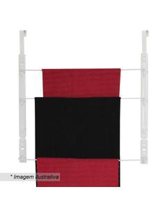 Toalheiro Triplo Para Porta- Branco- 56,5X57X11Cm