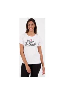 Camiseta Vasco Ink Feminina Branca