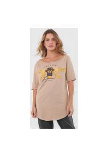 Camiseta Triton Borboleta Bege