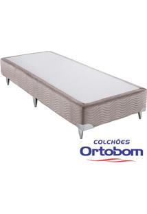 Box Solteiro - Camurça Crema - Ortobom - 88X188X23