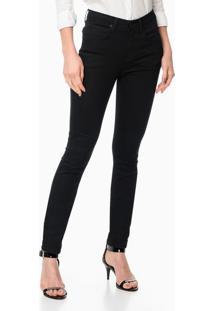 Calça Jeans 5 Pockets High Rise Skinny - Preto - 36