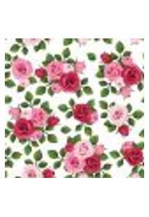 Papel De Parede Adesivo - Rosas E Folhas - 066Ppf