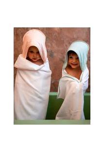 Amaro Feminino Studio Pipoca Toalha De Banho Infantil, Verde Água
