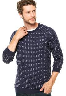 Suéter Triton Bordado Azul Marinho