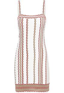 Vestido Tricot Nervura Jacquard - Off White