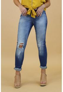 Calça Jeans Max Denim Feminina Azul - 40