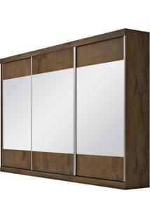 Guarda Roupa Com Espelho 3 Portas De Correr Milano Móveis Europa