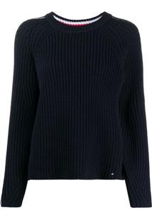 Tommy Hilfiger Suéter Listrado De Tricô - Azul