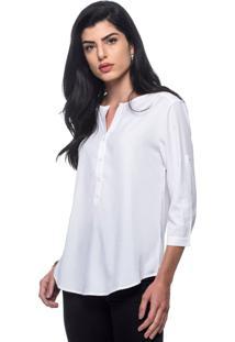 Camisa Intens Manga 3/4 Modal Branco