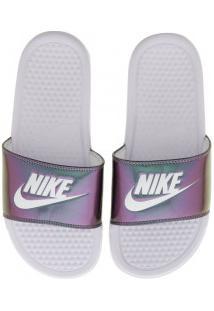 3a3e862f1e ... Chinelo Nike Benassi Jdi Print - Slide - Feminino - Branco
