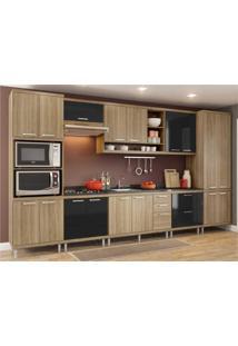 Cozinha Completa Multimóveis Com 8 Peças Sicília 5832 Argila/Preto