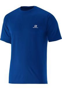 Camiseta Salomon Maculina Comet Yonder Azul M