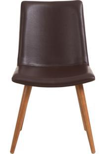 Cadeira Elza - Couro Marrom