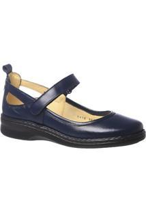 Sapatilha Couro Doctor Shoes 364 Feminina - Feminino-Azul