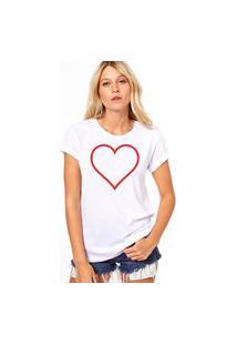 Camiseta Coolest Coração Branco
