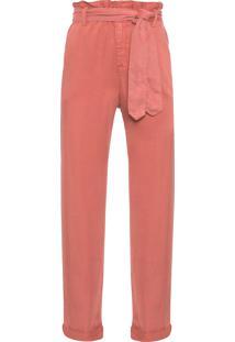 Calça Feminina De Sarja Pijama - Laranja