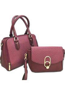 Bolsa Importada Transversal Sys Fashion 2730 Vinho