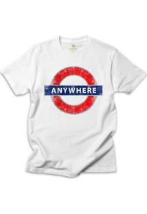 Camiseta Cool Tees Londres Masculino - Masculino-Branco
