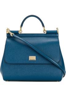 Dolce & Gabbana Bolsa Tote Sicily - Azul