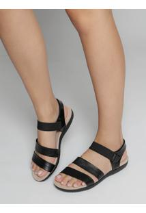 Sandália Rasteira Conforto Modare Textura