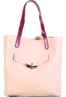 Bolsa Petite Jolie Shopper Donna Bag Rubber Feminina - Feminino-Nude