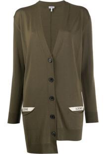Loewe Oversized Asymmetric Cardigan - Verde